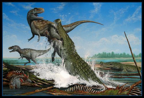 Deinosuchus live